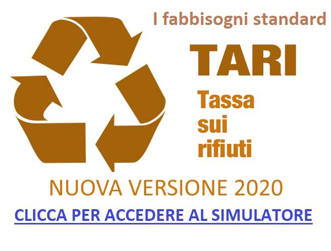 SIMULATORE GRATUITO 2020 FABBISOGNI STANDARD TARI